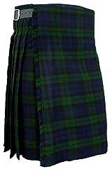 Hamilton Kilts Mens Kilt Blackwatch Scottish Traditional Highland Tartan Dress, W30