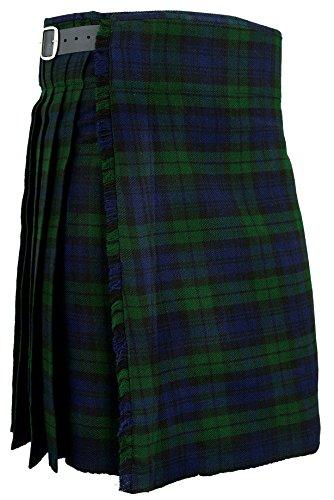 Hamilton Kilts Falda Escocesa Vestido Tierras Altas Tradicional Hombres Kilt -Blackwatch, W36