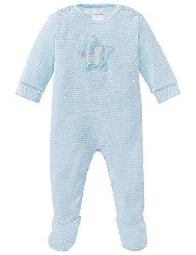 Schiesser Schiesser Baby-Mädchen Einhorn Anzug mit Fuß Zweiteiliger Schlafanzug, Blau (Türkis 807), 92