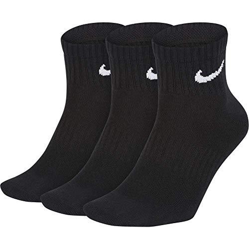 Nike Erwachsene Everyday Lightweight Ankle (3 Paar) Socken, Black/White, M (38-42 EU)