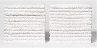 ECO TOWELS 24-Pack Washcloths   Natural Cotton, 12 x 12 Inch, Machine Washable Cleaning Rags and Wash Cloths for Bath Room...