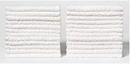 ECO TOWELS 24-Pack Washcloths | Natural Cotton, 12 x 12 Inches, Commercial Grade Washcloth, Machine Washable Cleaning Rags...