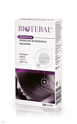 Biotebal Shampoo gegen Haarausfall, 200ml, für Kopfhaut und Haare, auch für gefärbtes Haar mit einer Neigung zum Ausfallen.