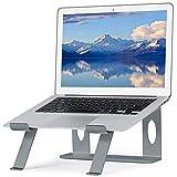 NearPow Soporte Laptop, Soporte Ordenador Laptop Stand Aluminio Ergonómico Desmontable Soporte de Portátil para DELL, HP, Samsung, Lenovo de11-17 Pulgadas (Gris)