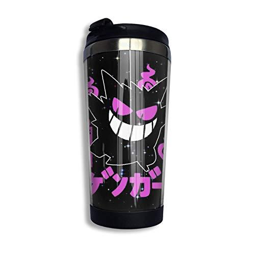 DJNGN Taza Ge.Ng-Ar Vaso Tazas de café con aislamiento de acero inoxidable de 400 ml con tapa abatible para bebida de hielo Bebida caliente 14 oz