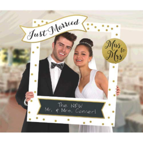 Amscan 398984 Wedding Customizable Giant Photo Frame  1 piece