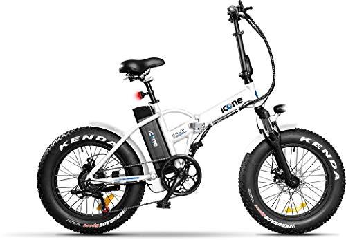 Icon.e Bici Elettrica Pieghevole Navy 250W White Gioventù Unisex, Bianca, no size