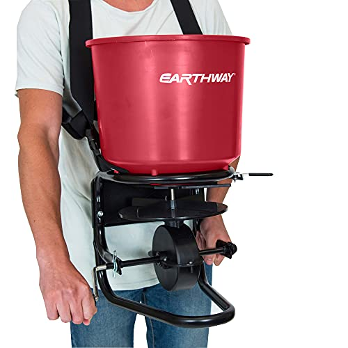EarthWay 3100 Professional 40 LB Portable Chest Mount Hand Crank Broadcast Spreader Including Even...