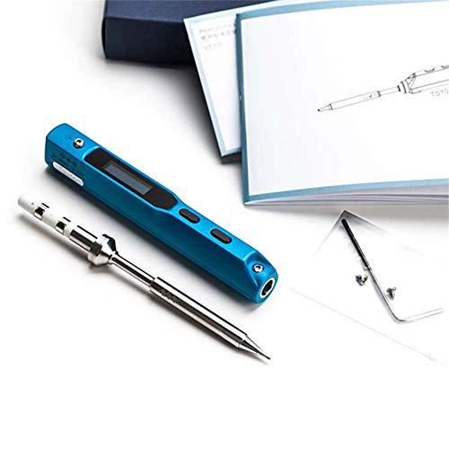 AIMERKUP TS100 tragbarer Lötkolben mit integrierter USB-Schnittstelle und Beschleunigungssensoren Chip Fast Heat 65 W very well B2 blau