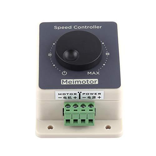 DC 10-60V 20A Control de velocidad del motor, Controlador PWM Regulador de velocidad Interruptores rotativos variables sin escalones, Controlador de velocidad variable impermeable Shell