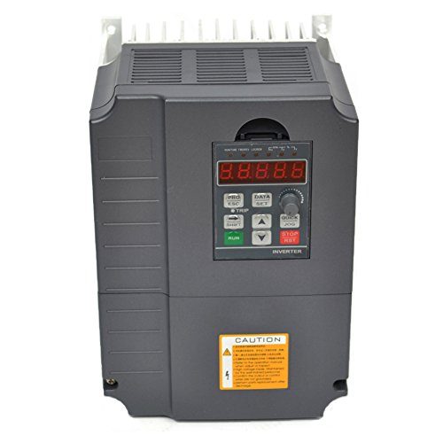 CNC Variable Frequency Drive Inverter VFD Single Phase input for 3 Phase Motor Speed Control 7.5kw 10HP 34A 220v
