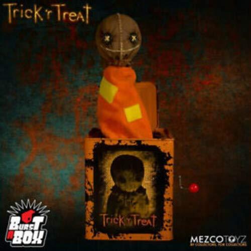 Mezco Toyz Caja de música Burst-A-Box Sam 36 cm. Trick R Treat (Truco o Trato)