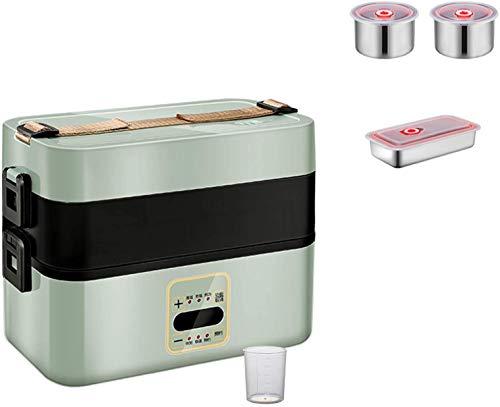 JILIGUALA Elektro-Lunch Box, 300W 1.6L, Two-Tier-Konfiguration, Negative Pressure Sealed Lagerung Abdeckung Lebensmittel-Heizungs-Wärmer, beweglicher Griff, Büro Schule und zu Hause