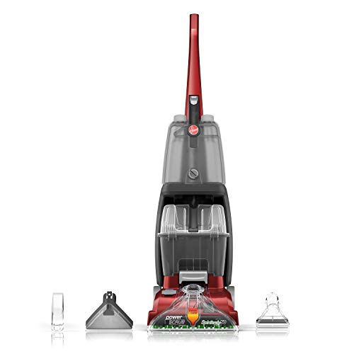 Hoover Power Carpet Cleaner Scrub Deluxe Machine Upright FH50150 Shampooer Red