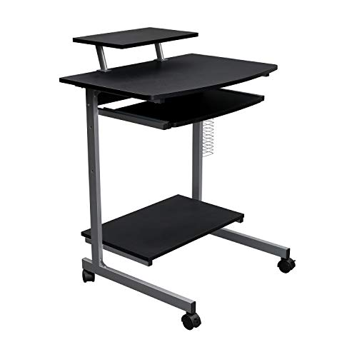Techni Mobili RTA-2018-GPH06 Compact Computer Cart With Storage, Graphite