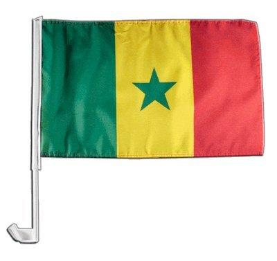Digni Drapeau de Voiture Sénégal - 30 x 40 cm