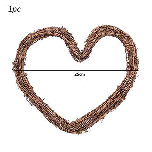 10-30 cm Pasen Home Decor Natuurlijke Rotan Krans Bruiloft Krans Ambachten Vrolijk Pasen Decoratie DIY Craft Lente Bruiloft Kransen, 1 st 25 cm