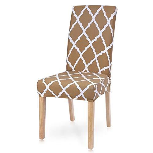 QZXCD Stoelhoes 1/2/4/6 stuks bedrukte stoelhoes spandex elastische stoelhoezen universele hoezen voor eetkamer bruiloftsbankett 24