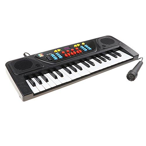 Teclado con Batería De 37 Teclas Teclado De órgano Eléctrico con Mini...