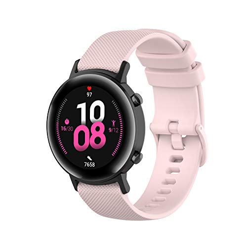 Angersi Soft Silicone Sport Strap Replacement Bands compatible with Huawei Watch GT2 42mm / Samsung Galaxy Watch 42mm / Galaxy Active / active2 40mm / 44mm