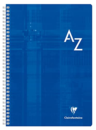 Clairefontaine 8148C - Wirebound Indexed Notebook, A4, 180 Pages, 90 g, Séyès, Laminated Cover, Random Colour