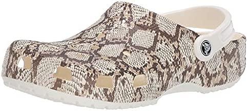 Crocs Unisex Classic Animal Clog | Zebra and Leopard Shoes, Snake Print, 6 US Women