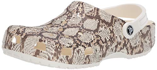 Crocs Women's and Men's Classic Lined Animal Print Clog | Fuzzy Slippers