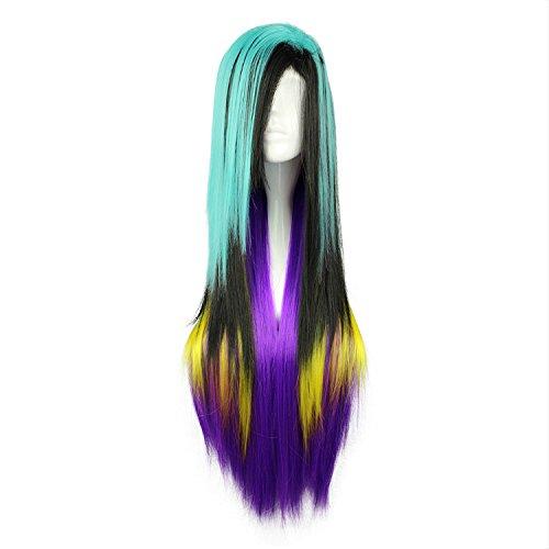 Mcoser 80cm Color Mixed Animation Cosplay Wig Lolita Wig