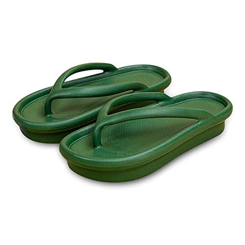 Infradito, pantofole estive da donna, con plateau, antiscivolo, per casa, interni, da spiaggia, per il tempo libero, verde militare, 35