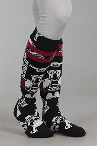 O'NEAL Oneal Pro MX Socken Crossbone, Farbe Schwarz/Weiss, Größe One Size