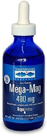 Trace Minerals Research Online Cheap super special price limited product Mega-Mag Liquid 4 Magnesium ounce Drops
