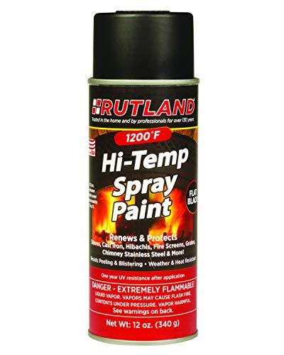 Rutland Products 80 Hi-Temp Paint, 12 Fl Oz (Pack of 1), Black, 12 Ounce