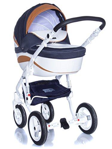 Kombi Kinderwagen Travel System Adamex Barletta New B7 3in1 Buggy Sportwagen Babyschale Autositz in schwarz Kite 0-13kg
