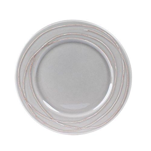 Table Passion - Assiette à dessert Filia gris 20 cm (lot de 6)