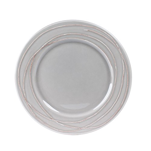 Table Passion - Assiette à dessert filia gris 20 cm (lot de 6)