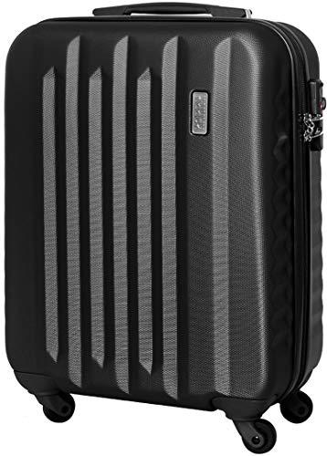 Handgepäck Bordgepäck Hartschalen Koffer Trolley Case TSA Schloss 30 Liter Schwarz 811