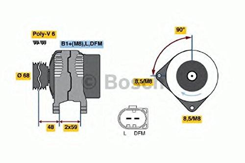 BOSCH Generator, 0 986 041 230 (incl. 100,- EUR voorraad)