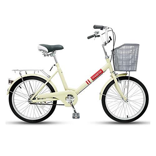 Bicicleta, Bicicleta de Viaje Urbano de 20 Pulgadas, Bicicleta de Ocio de una Sola Velocidad, Marco de Bajo Alcance, Asiento ErgonóMico, Tanto para Hombres Como para Mujeres/B/Como se m