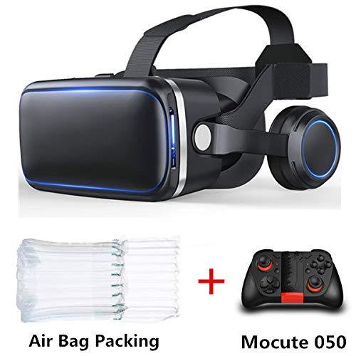 Buy 6.0 3D Vr Glasses Virtual Reality Virtual Reality Glasses 3D Helmet Headset Box with Gamepad, Bundle-2