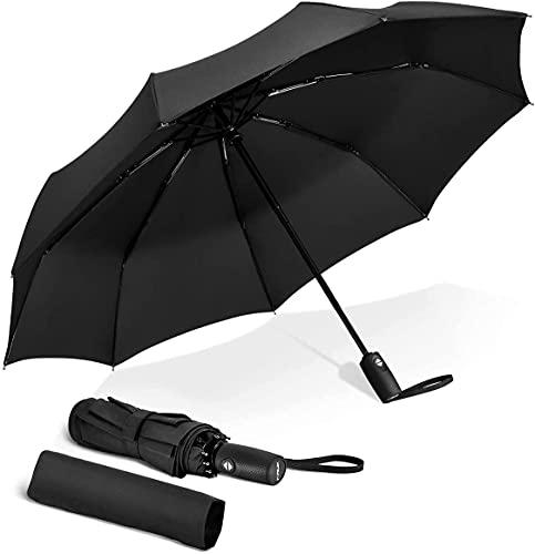 KWT Automatic Open Travel Umbrella with Wind Vent,Umbrella big size for men, Umbrella for girls, Umberallas for rain (Auto Umbrella Black) (Pink Blosson)