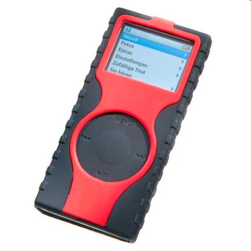 Vivanco iPod nano Case Negro, Rojo Silicona - Fundas para mp3/mp4 (Negro,...