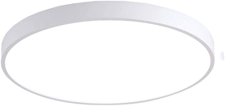 Nordic Lampen LED Eisen Deckenleuchte Modernen Minimalistischen Wohnzimmer Schlafzimmer Runde Makaru Kreative Balkon Kinderzimmer Deckenleuchte (Farbe   Weiß(A))
