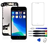 WYNT Touch Screen Replacement for iPhone 8 4.7 Inches LCD Digitizer Display Assembly with Free Touch 3D Screen Digitizer Frame Assembly with Full Repair Tools Kit Black