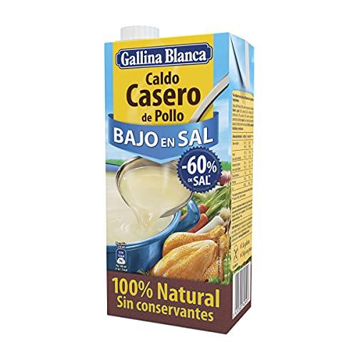 Gallina Blanca Caldo Casero de Pollo Bajo en Sal, 100%