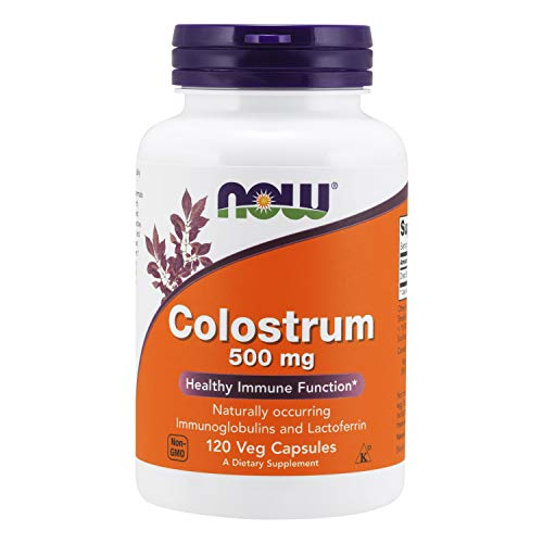 Now Foods Suplemento Alimenticio Colostrum, 500Mg - 120...