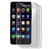 CXKJ [4 Piezas Protector Pantalla para Elephone P6000 (5.00 Pulgada), Cristal Templado 9H Alta Definicion Glass Vidrio Film Templado Screen de Pantalla Protector para Elephone P6000