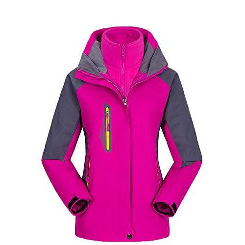Aerlan Damen Softshell Jacke,wasserdichte Berg-Skijacke,Outdoor Bergsteiger Angeljacke Zweiteilige Demontage Winddicht und wasserdicht-weiblich H_M #