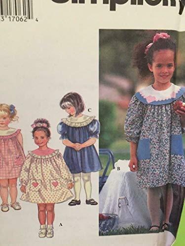 Simplicity 9719 - Patrones de Costura para Vestidos de niña (Tallas 5-6 años)
