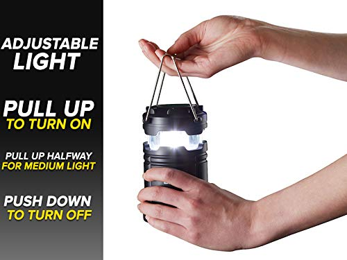 Atomic Beam Lantern Original by Bulbhead, Bright 360-Degree, Collapsible LED Lantern for Emergencies & Camping 3 ➤ The camping lantern that shines 360-degrees of bright LED light ➤ Hang your atomic lantern from handles, magnetic base, or hook for hands-free torch light ➤ Collapsible light has easy pull-n-push on/off system so you're not fumbling for buttons when you need an emergency light