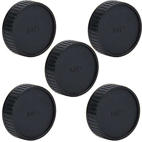 5 x Kamera-Objektiv-Rückdeckel, langlebig, tragbar, professionelle Objektivschutzabdeckung für Minolta für Seagull MD Mount Kamera-Objektiv.